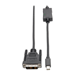 Tripp Lite P586-003-DVI cable interface/gender adapter Mini DisplayPort DVI-D Black