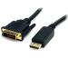 StarTech.com Cable 1,8m Adaptador de Vídeo DisplayPort a DVI - Conversor DP - Hasta 1920x1200 - Pasivo