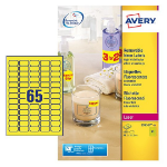 Avery White Mini Label - Laser - L7651 Yellow