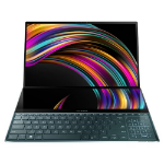 "ASUS ZenBook Pro Duo UX581GV-H2001R notebook Black 39.6 cm (15.6"") 3840 x 2160 pixels Touchscreen Dual-screen 9th gen Intel® Core™ i9 32 GB DDR4-SDRAM 1000 GB SSD Windows 10 Pro"