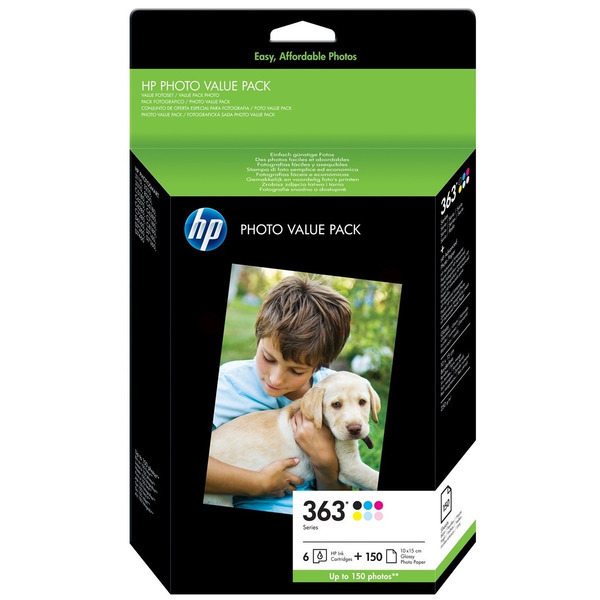 HP Q7966EE (363) Ink cartridge multi pack, 500 pages, Pack qty 6