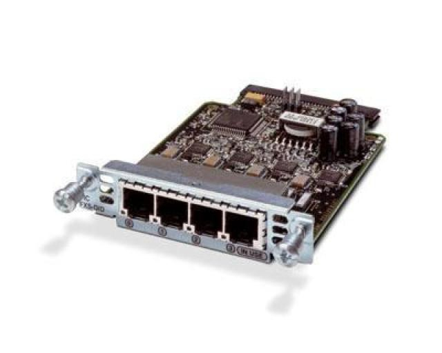 Four-Port Voice Interface Card - FXS and DID REMANUFACTURED