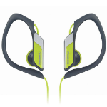 Panasonic RP-HS34PP Gancho de oreja Biauricular Alámbrico Verde, Gris auricular para móvil