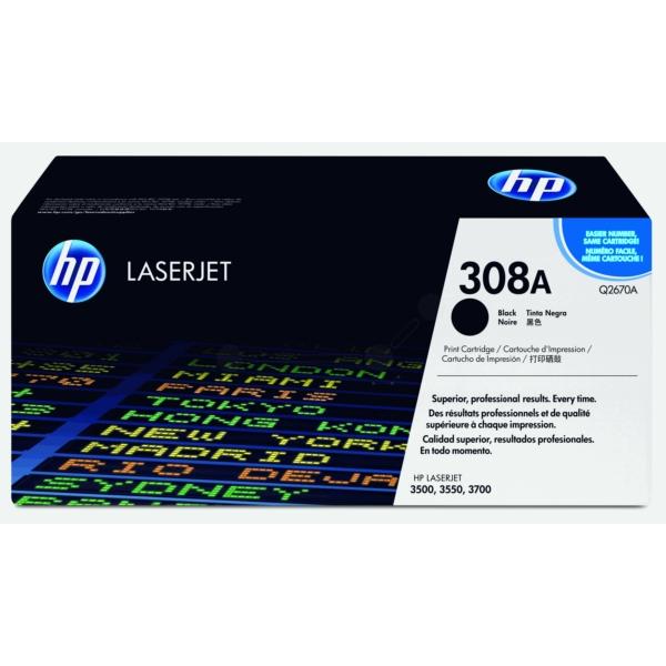 HP Toner Cartridge Black 6k F/ Color Laserjet 3500/3700 - Q2670A
