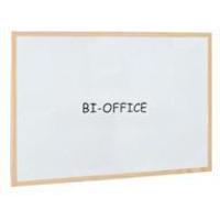 Bi-Office Drywipe Whiteboard Wood Frame 600mm X 400mm