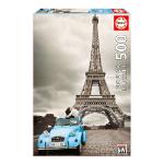 EDUCA France: Paris's Eiffel Tower Coloured Black & White 500pcs Jigsaw Puzzle (14845)