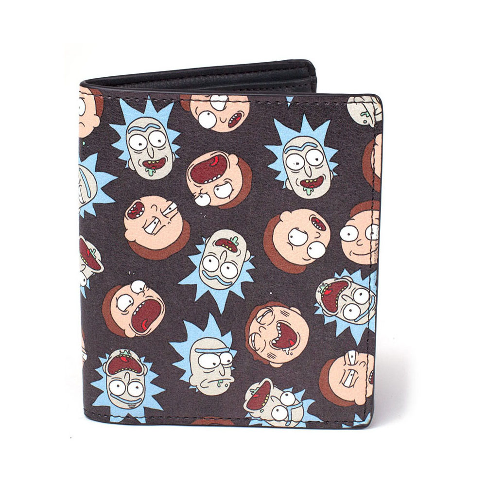 RICK AND MORTY All-over Faces Print Bi-fold Wallet, Multi-colour (MW081212RMT)