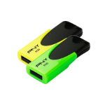 PNY N1 Attaché Twin Pack 8GB 8GB USB 2.0 Black,Green,Yellow USB flash drive