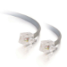 C2G 14ft RJ11 6p4c Modular Cable Straight 4.2m Grey networking cable