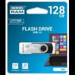 Goodram UTS2-1280K0R11 USB flash drive 128 GB USB Type-A 2.0 Black, Silver