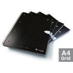 Livescribe A4 Grid Notebook, 4-Pack A4 80sheets Black writing notebook