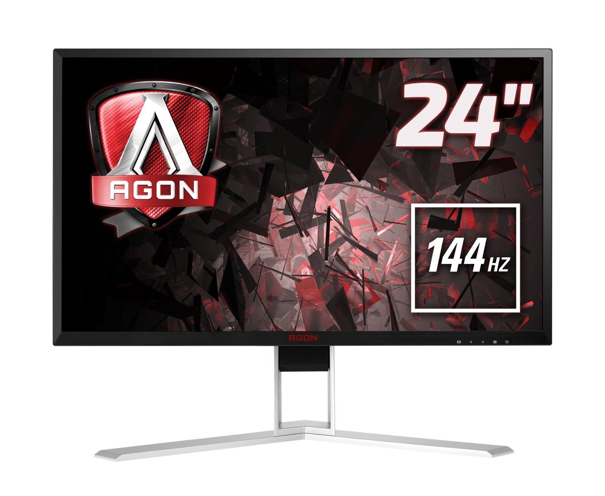 AOC Gaming AG241QX PC Flachbildschirm 60,5 cm (23.8 Zoll) 2560 x 1440 Pixel Quad HD LED Schwarz, Rot