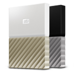 Western Digital My Passport Ultra 3000GB Gold,White external hard drive