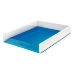 Leitz WOW Polystyrene Blue, Metallic desk tray