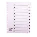 Guildhall L 1-10 INDEX MYLAR WHITE A4