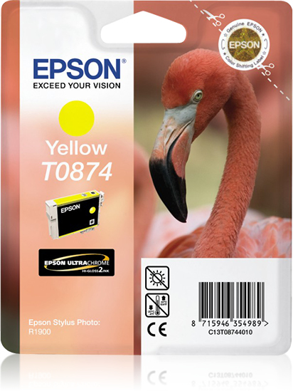 Epson Flamingo inktpatroon Yellow T0874 Ultra Gloss High-Gloss 2