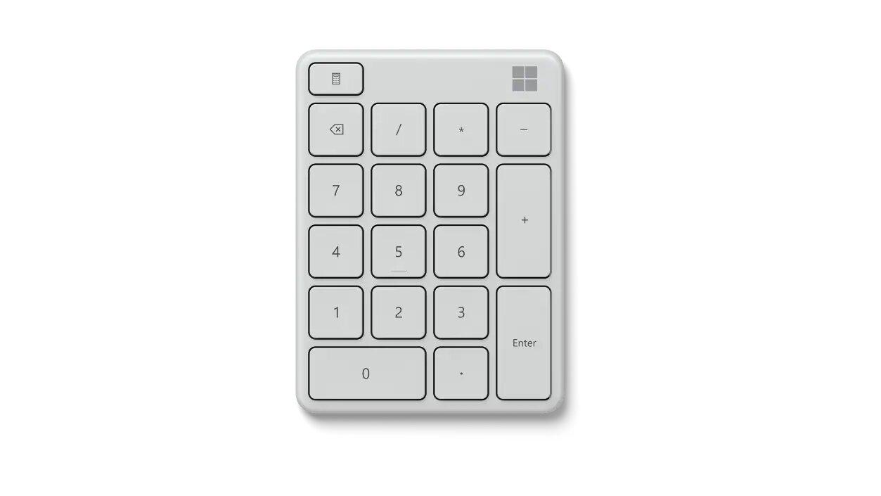 Microsoft Number Pad numeric keypad Universal Bluetooth White