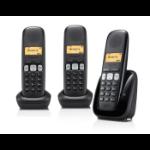 Gigaset A250 Trio Analog/DECT telephone Nummerherkenning Zwart