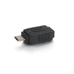 C2G 81689 cable gender changer Mini (B) F Micro (B) M Black