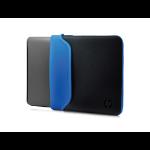 "HP 35.56 cm (14"") Neoprene Sleeve notebook case 35.6 cm (14"") Sleeve case Black, Blue"