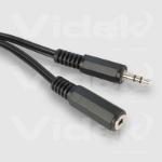 Videk 3.5mm Stereo Jack Plug to Socket 3m audio cable Black