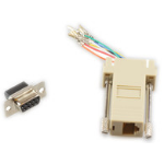 Microconnect SAD008 RJ45 f DB9 F Beige cable interface/gender adapter