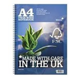 Silvine Premium Notebook FSC Wirebound Perforated Punched Ruled Margin 160pp 75gsm A4 Ref R202 [Pack 5]