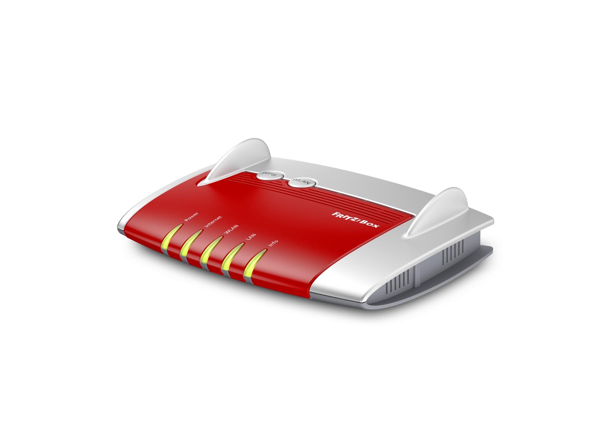 AVM FRITZ!Box 4020 router inalámbrico Ethernet rápido 3G 4G Rojo