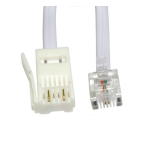 Cables Direct 2m RJ11 - BT Plug 2 Wire telephony cable White