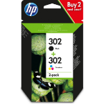 HP X4D37AE (302) Printhead cartridge multi pack, 190pg + 165pg, Pack qty 2