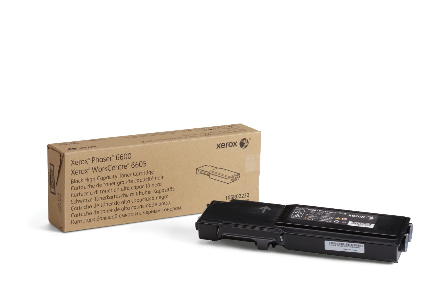 Xerox Cartucho de tóner negro de gran capacidad para Phaser 6600/WorkCentre 6605 (8000 páginas)