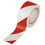 FSMISC VINYL TAPE HAZARD WHITE/RED
