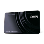 Laser AO-USB3HUB USB 3.0 (3.1 Gen 1) Type-A 5000Mbit/s Black interface hub