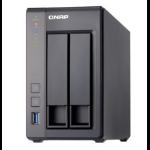 QNAP TS-251+ NAS Tower Ethernet LAN Black,Grey TS-251+-2G/8TB-RED