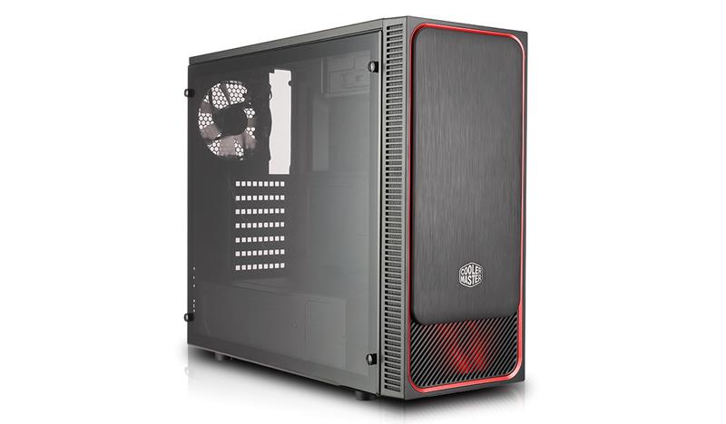 Cooler Master MasterBox E500L computer case Midi-Tower Black,Red