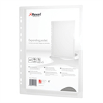 Rexel Expanding Punched A4 Pockets (5 Pack) 2104223