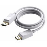 Vision TECHCONNECT 2M DISPLAYPORT CABLE Engineered connectivity solution, White, Displayport 1.2, 4K compliZZZZZ], TC 2MDP