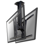 """Newstar TV/Monitor Ceiling Mount for Dual 37""""-75"""" Screens (Back to Back), Height Adjustable - Black"""