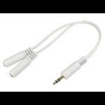Cables Direct 3-M2FGWHT audio splitter White