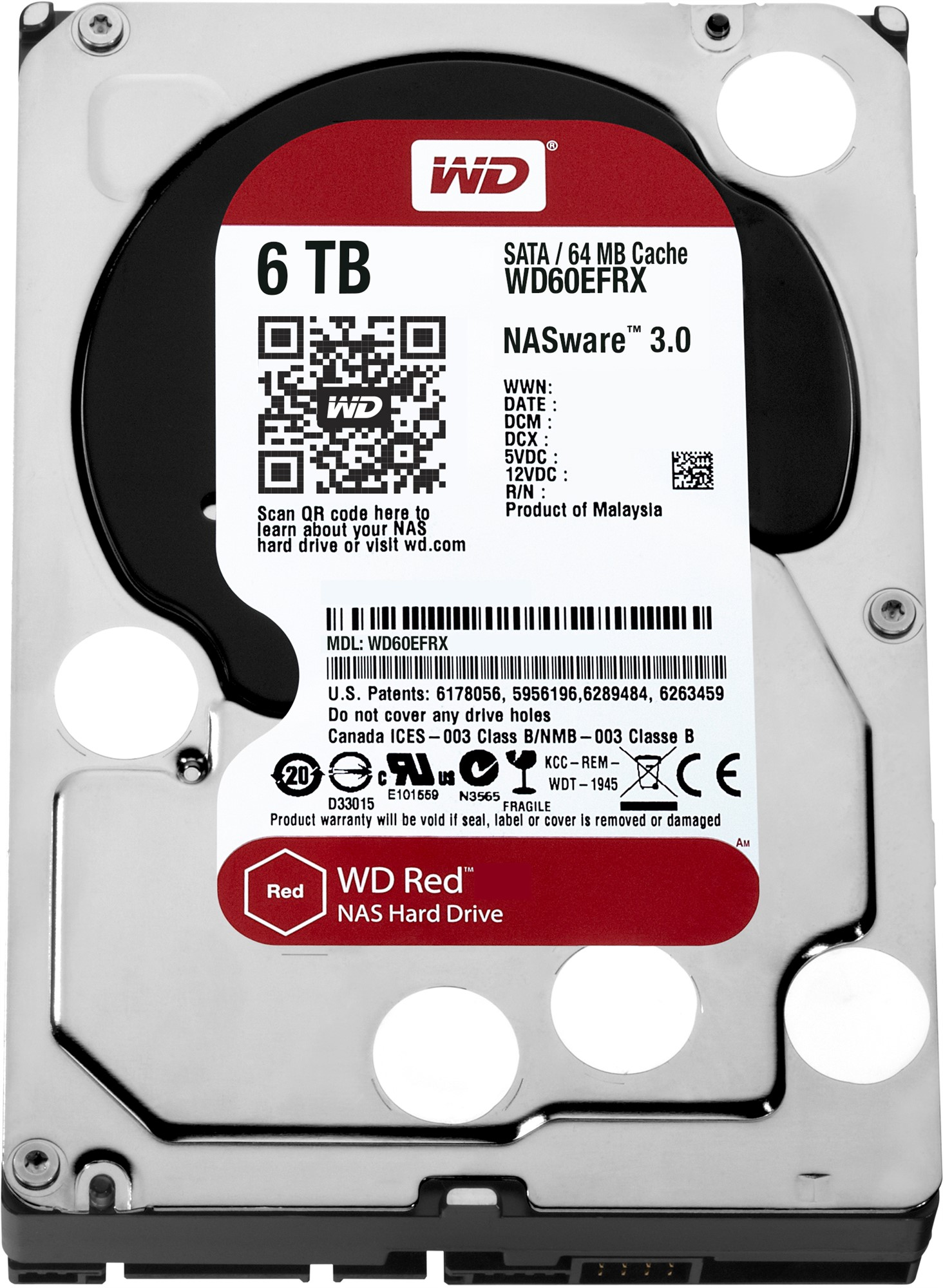 Western Digital Red HDD 6000GB Serial ATA III internal hard drive