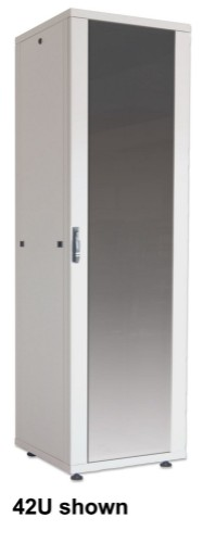 "Intellinet 19"" Basic Network Cabinet, 42U, 2033 (h) x 600 (w) x 800 (d) mm, Max 600kg, Flatpack, Grey"