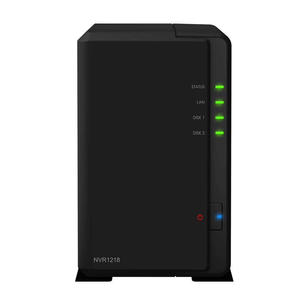 Synology NVR1218 network video recorder Black