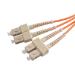 Videk 50/125 OM3 SC - SC fiber optic cable 10 m Orange