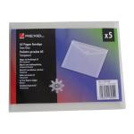 Rexel Ice Popper Wallet Landscape A5 Clear (5)