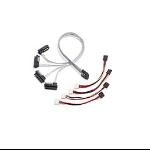 Microsemi Adaptec ACK-I-mSASx4-SAS4x1-FO-1M R 1m 3Gbit/s Black