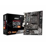 MSI B450M-A PRO MAX AMD Socket AM4 DDR4 VGA/DVI-D Micro ATX M.2 USB 3.2 Motherboard