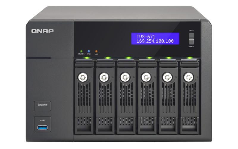 QNAP TVS-671 NAS Tower Ethernet LAN Black