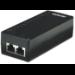 Intellinet Power over Ethernet (PoE) Injector, 1 Port, 48 V DC, IEEE 802.3af Compliant (UK 3-pin plug)