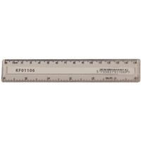 Q-Connect Acrylic Ruler 15cm Clear Pk10