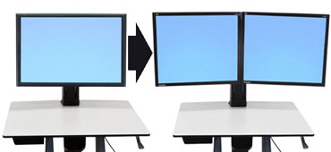Ergotron WorkFit Convert-to-Dual Kit from Single HD